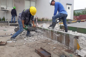 Constructing and completing concrete cutting drilling in Tam Hiep