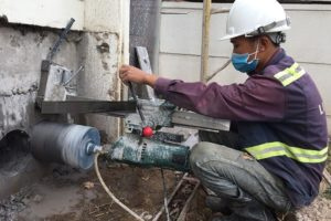 Steps to drill concrete core in Binh Thanh