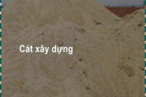Giá cát xây dựng chuẩn quy cách
